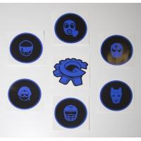 GearBlast:EU Fetish Head stickers, black